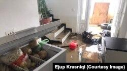 Poplavljena kuća Ejupa Krasnićija(Krasniqi)koji ocenjuje da im je naneta šteta oko 3 hiljade evra