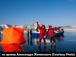 "Конькобежный марафон ""Ледовый шторм"" на Байкале"