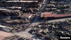 Изгорениот бегалски камп Морија на Лезбос