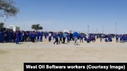 Забастовка рабочих West Oil Software, Жетыбай, Мангистауская область, 23 августа 2021 года