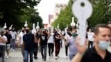 Protestë e sektorit të gastronomisë në korrik të vitit 2020.