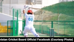 یکی از بازیکنهای تیم کریکت افغانستان