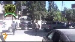 Кортеж ООН в передмісті Дамаска, відео з соцмереж, не підтверджене офіційно