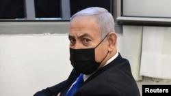 Իսրայելի վարչապետ Բենյամին Նեթանհայուն Երուսաղեմի շրջանային դատարանում, արխիվ