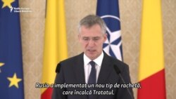 Secretarul general NATO: Rusia amenință Europa cu noua sa rachetă nucleară