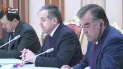Встреча Штайнмайера с президентом Таджикистана