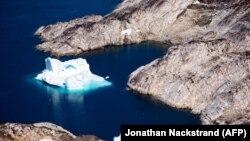 Un ghețar în largul coastelor Groenlandei, la Kulusuk , august 2019