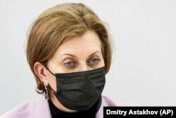 """Орусиянын """"Роспотребнадзор"""" мекемесинин башчысы Анна Попова. 25.12.2020."""