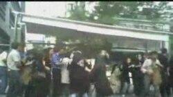 کوبیدن مردم توسط نظامیان در ایستگاه اتوبوس