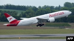 Austrian Airlines said it had canceled a Vienna-Moscow flight after Russia failed to approve anew flight plan that also avoided Belarusian airspace. (file photo)