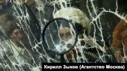 """Реставрация картины """"Пленение Шамиля"""" в Центре им. И. Грабаря"""
