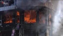 Diqlas Ticarət Mərkəzi yandı