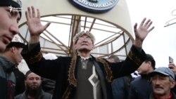 Талас: Митингге чыккандар талаптарын кайталашты