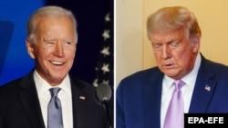 Joe Biden (stânga) și Donald Trump