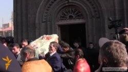 Murdered Armenian Family Buried in Gyumri