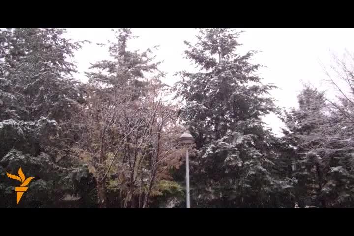 Bora e parë në Prishtinë