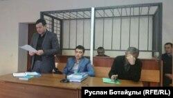 Болатбек Біләловтің сотында адвокат сөйлеп тұр. Астана, 21 қаңтар 2016 жыл.
