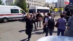 Kazanda orta məktəbə silahlı basqında azı 9 nəfər ölüb