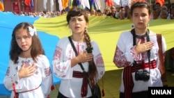 Під час святкування Дня Незалежності України в Івано-Франківську, 24 серпня 2012 року