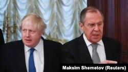 Sergej Lavrov i Boris Johnson, arhivski snimak