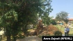 Iskopavanje u dvorištu Univerziteta u Prištini
