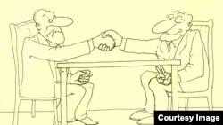Şerif, karikatura, «Centlmen razılaşması»