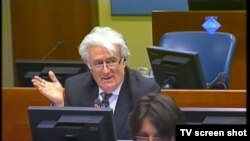 Radovan Karadžić u sudnici 19. travnja 2012.