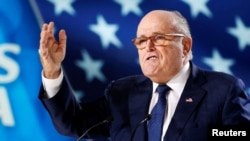 Rudy Giuliani, the personal lawyer for U.S. President Donald Trump, says sanctions will eventually bring down the Iran government (file photo).