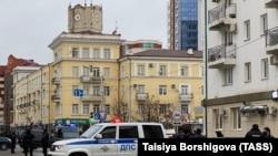На месте стрельбы в Грозном, 28 декабря 2020