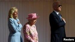 Королева Елизавета II, Джо и Джилл Байден