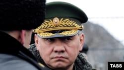 Министр обороны России Сергей Шойгу. Мурманская область, 16 апреля 2014 года.