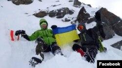 Тацьцяна Гацура-Яворская і ўкраінскі альпініст Віталь Сазонаў