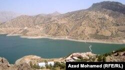 موقع سد دربنديخان في محافظة السليمانية