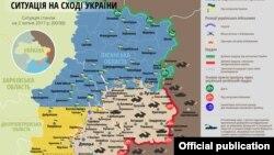 Ситуационная карта Донбасса на 2 июля 2017 года