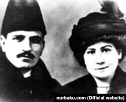 Məmməd Yusif Cəfərov və həyat yoldaşı Yekaterina Oçeorik-Paçarskaya