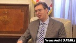 Српскиот претседател Александар Вучиќ