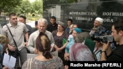 Chechnya, Grozny, Meeting of relatives of missing people. 01June2012