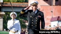 Командуючий ВМС ЗСУ України адмірал Ігор Воронченко