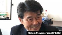 Әкежан Қажыгелдин, Қазақстанның бұрынғы премьер-министрі. Брюссель, 9 сәуір 2018 жыл