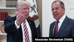 Дональд Трамп и Сергей Лавров 10 мая 2017 г.