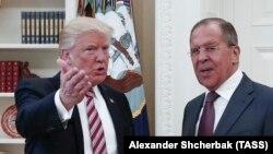 Дональд Трамп і Сергій Лавров на зустрічі у Вашингтоні, США, 10 травня 2017 року