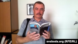 "Belarus - Journalist Syarhey Dubavets with his new book ""Errata"", 30Aug2013"