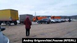 Строительство дороги к мусоросжигательному заводу под Казанью