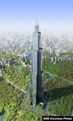 Sky Cityның компьютерда ясалган моделе