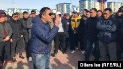 Выступление владельцев машин без казахстанской регистрации в Шымкенте. 31 января 2020 года.