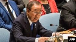 """أمين عام الأمم المتحدة بان كي مون يتحدث في مجلس الأمن الدولي عن """"داعش"""""""