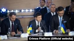 Президент Украины Владимир Зеленский на саммите «Крымской платформы» в Киеве, 23 августа 2021 года