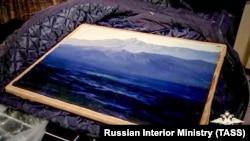 Картина «Ай-Петри. Крым» после похищения, Московская область