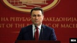 Macedonia - Press conference by Prime Minister Nikola Gruevski.