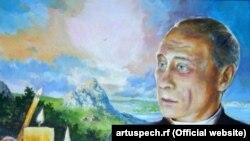 Портрет Владимира Путина на конкурсе самодеятельных художников